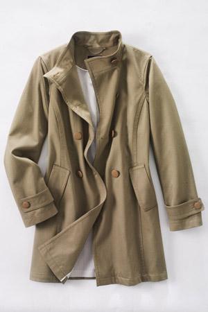 Le Manteau Riche en Coton à Double Rangée de Boutons Femme, Grande Taille